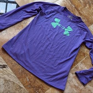 Under Armour youth medium purple/green long sleeve